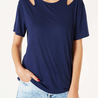 Split Shoulder Tee - New In This Week - New In - Topshop USA