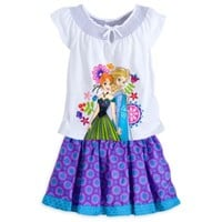 Anna and Elsa Top and Skort Set for Girls – Frozen