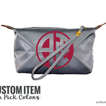 Alpha Phi Custom Monogram Sorority Wristlet