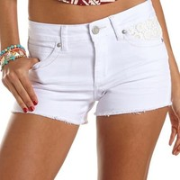 Almost Famous Crochet Pocket Short: Charlotte Russe