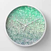 Seafoam Sensations Wall Clock by Lisa Argyropoulos