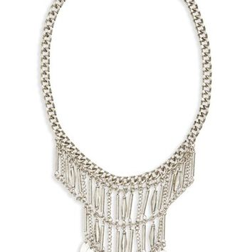 BP. Metal Tassel & Stone Statement Necklace | Nordstrom