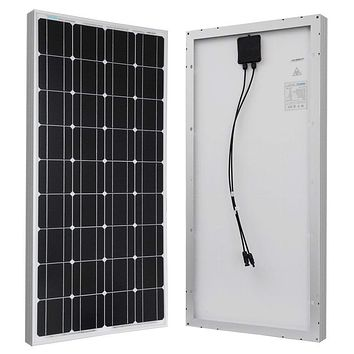 100-Watt Solar Panel Great for 12-Volt Battery Charging RV Camping Off-Grid