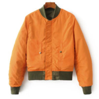 FREE SHIPPING The new fall look comes in two loose front and back satin flight jackets for women