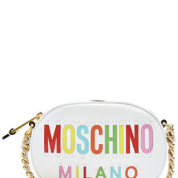 Printed Leather Shoulder Bag - Moschino | WOMEN | US STYLEBOP.COM
