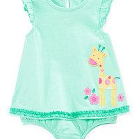 First Impressions Baby Girls' Giraffe Sunsuit