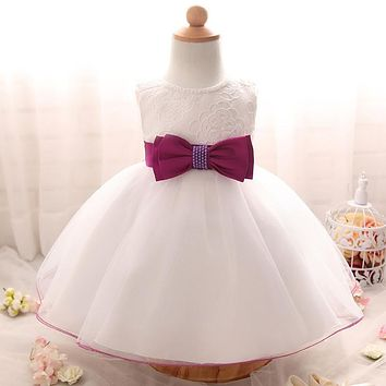 Newborn Girls Clothes Christening infant kids Dress Baby Girl clothing tutu Dress Wedding 1 year birthday party Princess dress