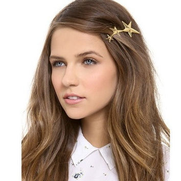 Fashion Three Gold Stars Hairpin