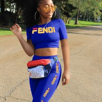 Blue FENDI Sportswear Two Pieces