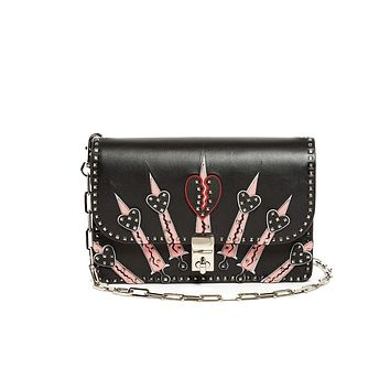 Valentino Garavani Glam Lock Mini Love Blade Bag