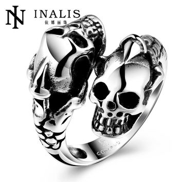 Punk Men Ring Black Titanium Male Ring High Quality Jewelry 316L Titanium Steel Skull Rings For Men