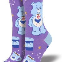 More Coffee, Less Grumpy Care Bears Women's Crew Socks
