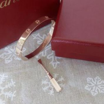Cartier Love Bangle Bracelet in 18k Rose Gold size 18 **