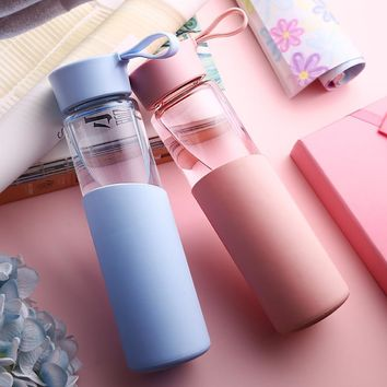 Glass Water Bottle Leak-Proof Seal Large Capacity