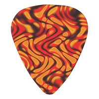 Molten Swirls Abstract Art Guitar Pick