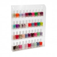 "4 Tier Clear Acrylic Nail Polish Salon Wall Display 16"" x 12"""