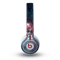 The Bright Pink Nebula Space Skin for the Beats by Dre Mixr Headphones