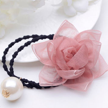 Floral Hair Band with Olivet Detail