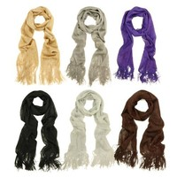 Premium Solid Color Glitter Metallic Mesh Scarf - Different Colors Available