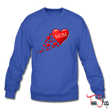 Mom in a flow of hearts sweatshirt