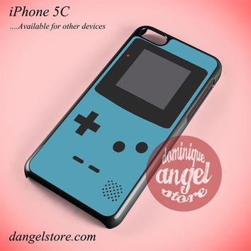 Blue Custom Gameboy Phone case for iPhone 5C and another iPhone devices