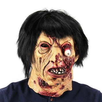 Halloween Haunted House Horror Vampire Adult Infected Zombie Mask Scary Costume party Props Costume Screaming Corpse Head Mask