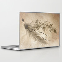 Bohemian Feather Laptop & iPad Skin by LouJah | Society6