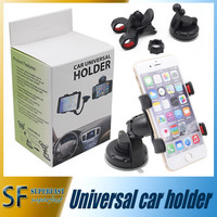 For Iphone 6 Universal Car Holder 360 degree rotation car Holder Cupule Black For Smart Phone PDS GPS PSP Camera Recoder With Retail Box