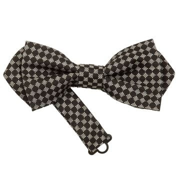 Pisano-Black and Silver Pre-Tied Bow