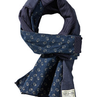 Amsterdams Blauw patchwork scarf - Scotch & Soda