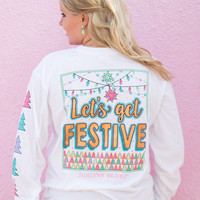 Jadelynn Brooke: Let's Get Festive Long Sleeve Tee {White}