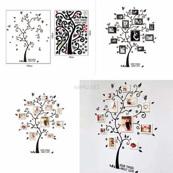 Family Tree Wall Decals Photo Picture Frame Removable Sticker Vinyl Home Decor