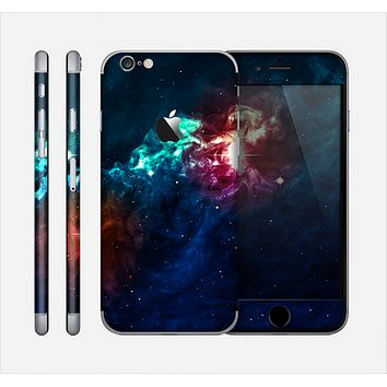The Glowing Colorful Space Scene Skin for the Apple iPhone 6
