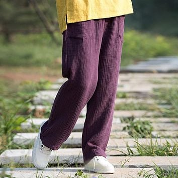 Trousers For Women 2017 Spring & Summer Women's cotton Linen Pants Loose Trousers Female straigh Pants plus size Trousers M-6XL