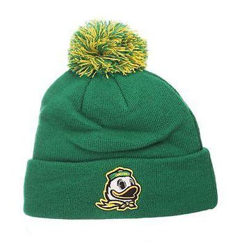 Licensed Oregon Ducks Official NCAA Pom Knit Adjustable Beanie S d31d075ed243