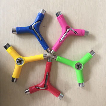 2016 Skateboard Tools Y Tools with L Key Metal & Plastic Graphic Mounting Tools for Skateboards Longboards 3 Sizes Sockets Tools