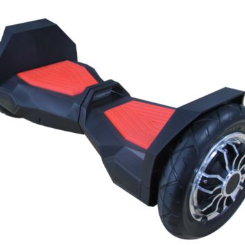 "UL 2272 M38 All Terrain 10"" Lambo Bluetooth Black/Red Hoverboard Smart Self Balancing Electric Scooter v5"