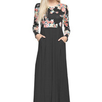 Pretty Things Floral Long Sleeve Maxi Dress