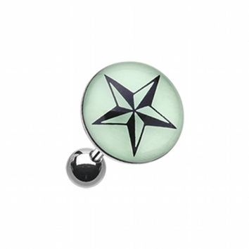 Glow in the Dark Nautical Star Cartilage Tragus Earring