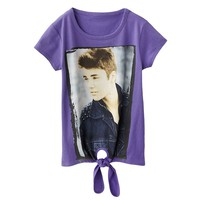Justin Bieber Tie-Front Graphic Tee - Girls