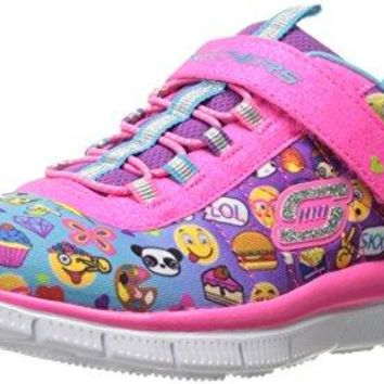 Skechers Kids Girls' Skech Appeal-Pixel Princess Sneaker, Emoji Multi, 12 M US Little Kid