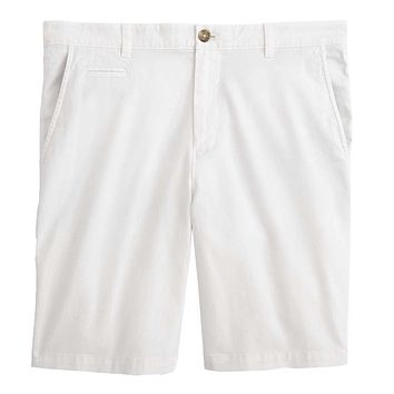 Neal Stretch Twill Shorts in White by Johnnie-O