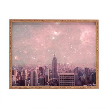 Bianca Green Stardust Covering New York Rectangular Tray