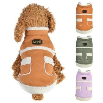 Suede Pet Jacket Warm Dog Clothes Luxury Princess Pet Dress Coat Pet Overalls Winter Dog Clothing for Small Pet Accessories