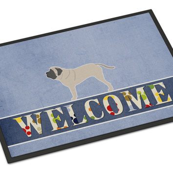 English Mastiff Welcome Indoor or Outdoor Mat 18x27 BB5560MAT