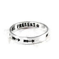 Arrow Sterling Silver Personalized Women's Ring.