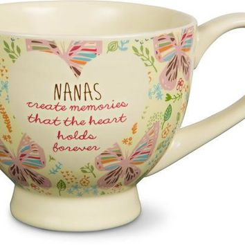 Nanas create memories that the heart holds forever Soup Bowl Mug