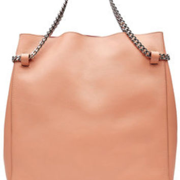 Leather Tote with Chain Straps - Jil Sander | WOMEN | US STYLEBOP.com