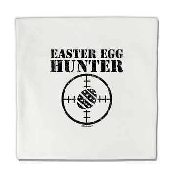 """Easter Egg Hunter Distressed Micro Fleece 14""""x14"""" Pillow Sham by TooLoud"""