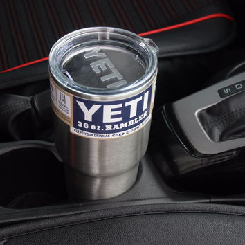 18/8  Stainless Steel YETI Rambler Tumbler Cars Mug & Cooler Handle , 30 / 20 OZ YETI Vacuum Insulated Cup
